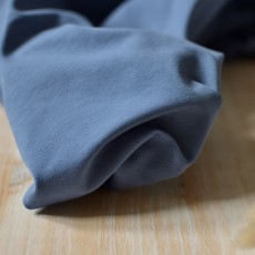 Tissu jersey coton Biologique pas cher au mètre bleu jean