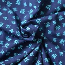 Tissu jersey imprimé feuilles style fleuri