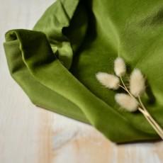 Tissu jersey velours éponge vert avocat enfant vintage