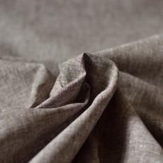 Tissu lin et coton marron taupe chiné