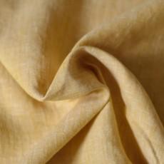 Tissu lin jaune ocre naturel