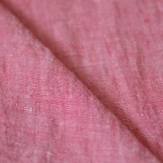 Tissu lin rouge rustique 100% lin au mètre