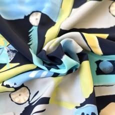 Tissu polyester au mètre pas cher couture jupe, robe