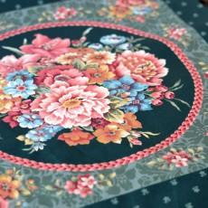 Tissu patchwork fleurs kitch