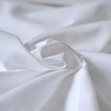 Tissu piqué de coton blanc