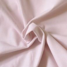 Tissu popeline rayure rose pâle