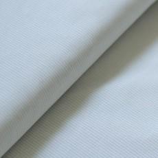 Tissu popeline coton Bio vert amande rayé pour salopette, bloomer, chemise