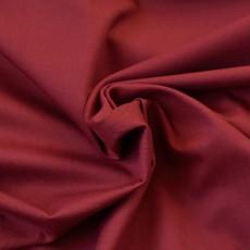 Tissu sergé uni rouge bordeaux en coton Bio