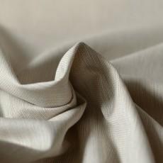 Tissu gabardine à rayures beige kaki coton Bio au mètre