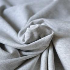 Tissu sweat gris chiné en coton bio