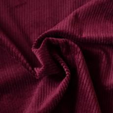 Tissu velours grosses côtes bordeaux