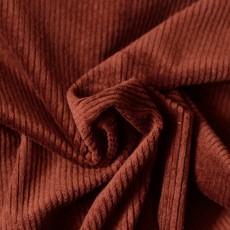 Tissu velours côtelé coloris rouille