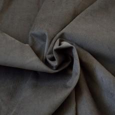 Tissu velours milleraies gris foncé