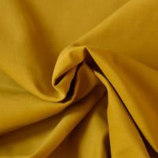 Tissu velours milleraies jaune moutarde 100% coton