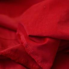 Tissu velours milleraies à coudre rouge