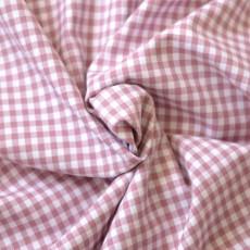 Tissu vichy petits carreaux rose