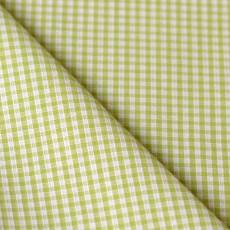 Tissu vichy vert carreaux 2 mm