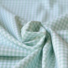 Tissu à carreau au mètre vichy vert menthe couture