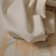 Tissu voile de coton Bio uni beige