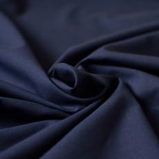 Voile de coton uni bleu marine biologique au mètre