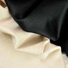 Satin de coton Bio écru ou noir
