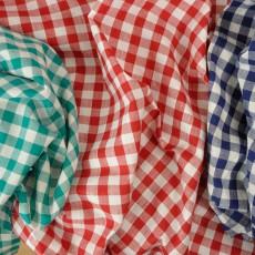Vichy coton à carreaux bleus rouges ou verts