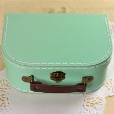 Boite à couture petite valisette vert menthe