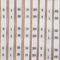 Étiquettes de taille (ou numérotées) au mètre (fin de série)
