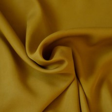 Tissu Lyocell jaune moutarde au mètre