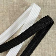 Élastique plat anti-glisse à bande silicone 10 mm