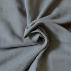 Tissu double-gaze de coton Bio gris