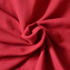 Tissu double-gaze gauffré coton Bio rouge cerise