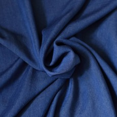 Tissu lyocell jean bleu foncé écologique