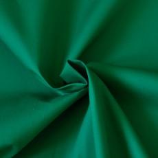Tissu popeline coton vert au mètre