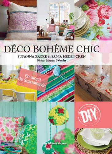 livre d co boh me chic diy a a patrons. Black Bedroom Furniture Sets. Home Design Ideas