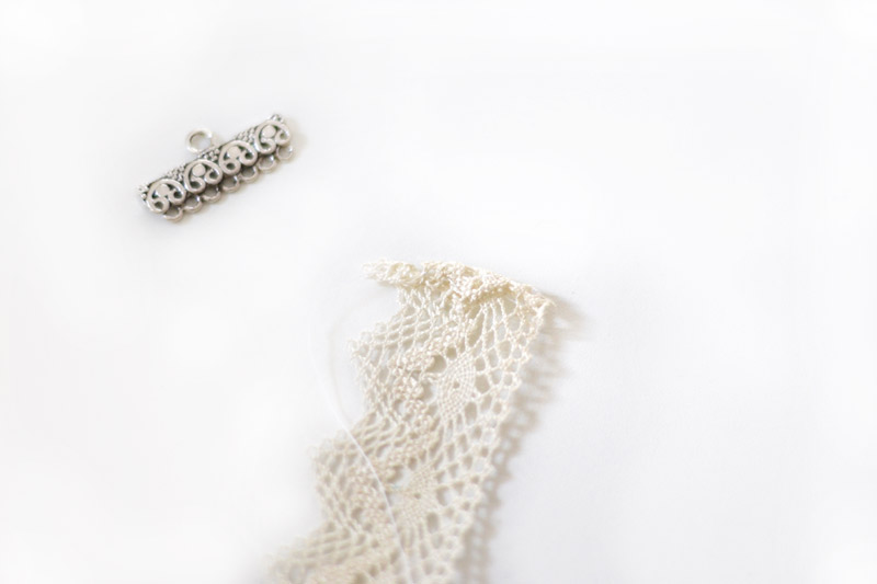 wedding lace headband tutorial