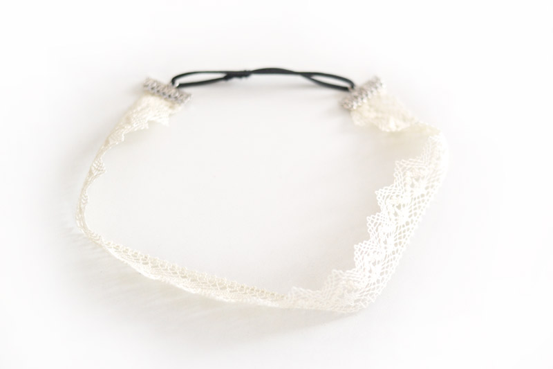 headband à dentelle tutoriel