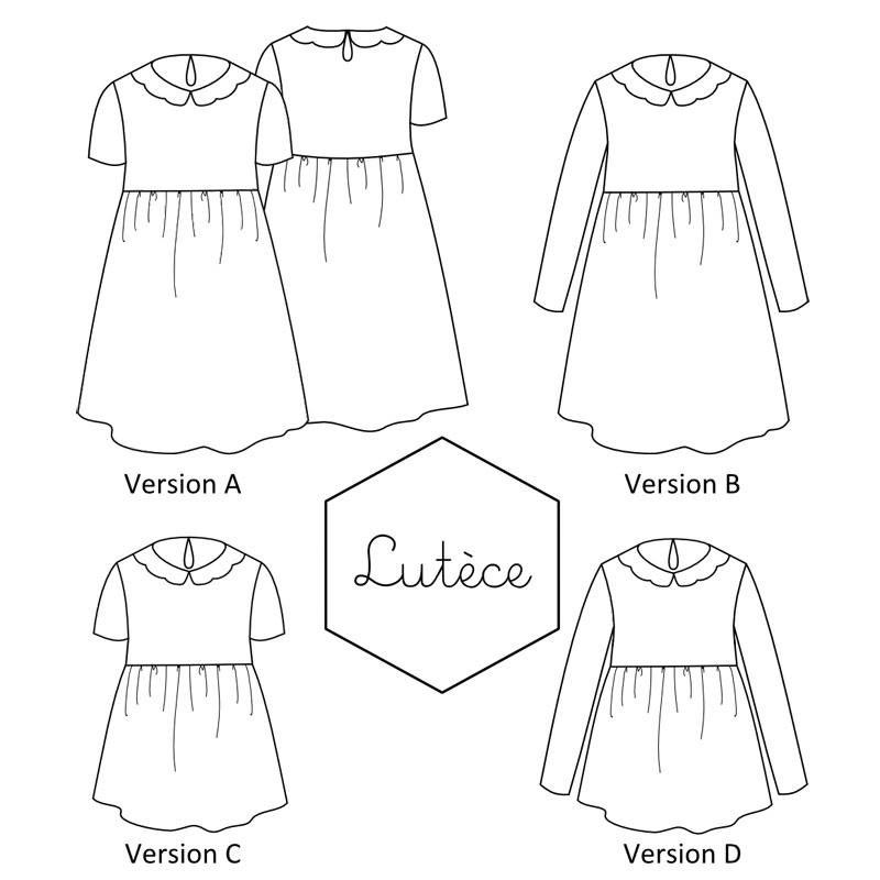 Patron couture robe jersey maternite