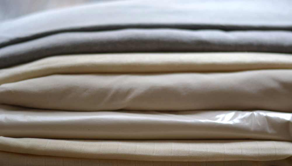 Organic cotton and linen fabrics and jersey