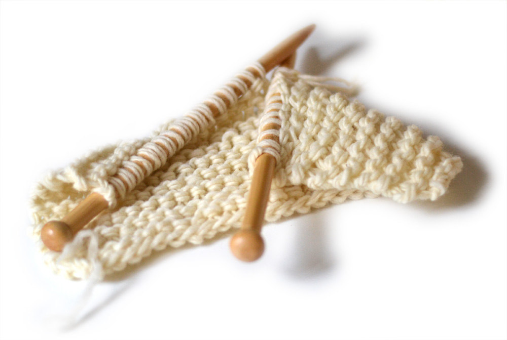 wool knitting learning