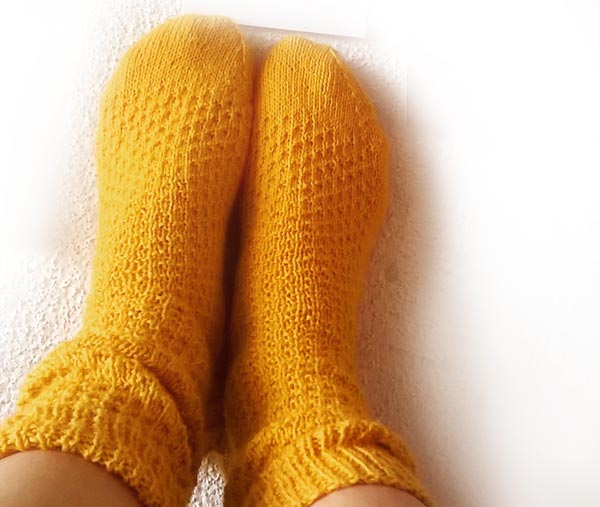 Laine à chaussette Balade jaune moutarde en Hermione everyday socks