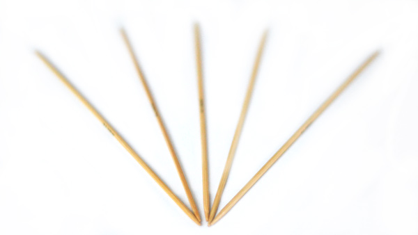 Double tip knitting needles