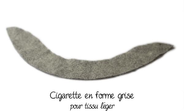 cigarette couture en forme grise
