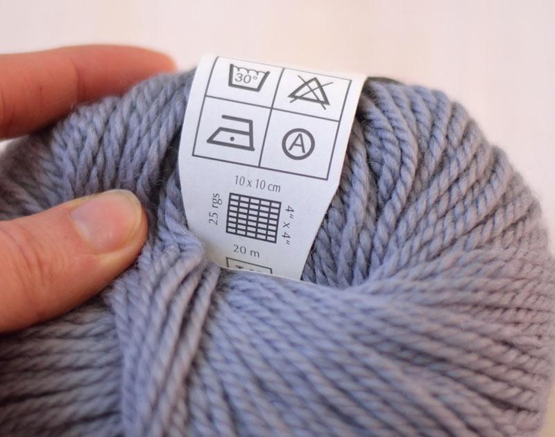 échantillon au tricot