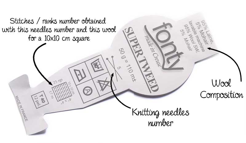 wool ball label