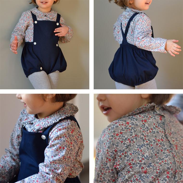 kit patron couture bébé coton bio