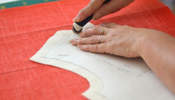 Transposition des lignes de coutures avec roulette