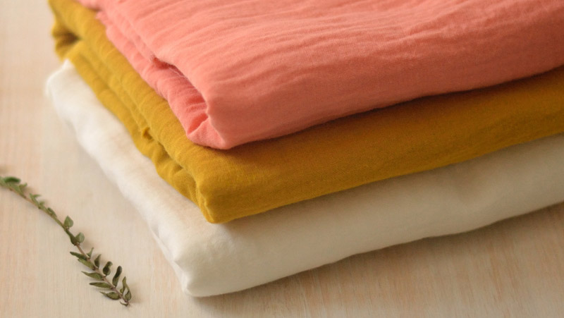Tissu double gaze coton bio