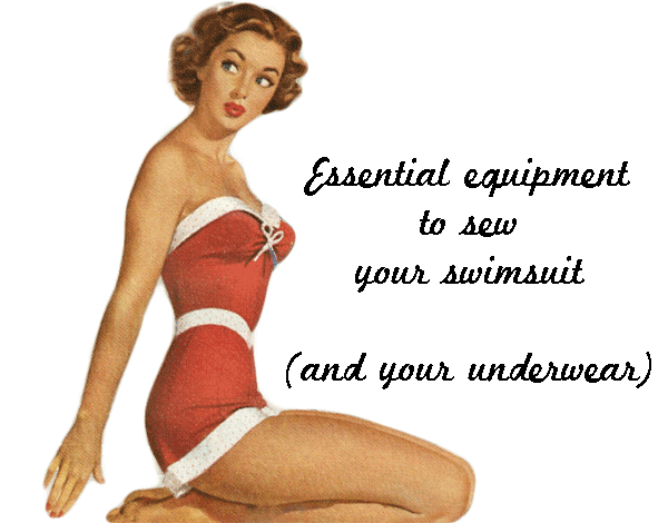 Sewing a swimsuit, the equipment