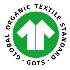 Tissu jersey bio label GOTS